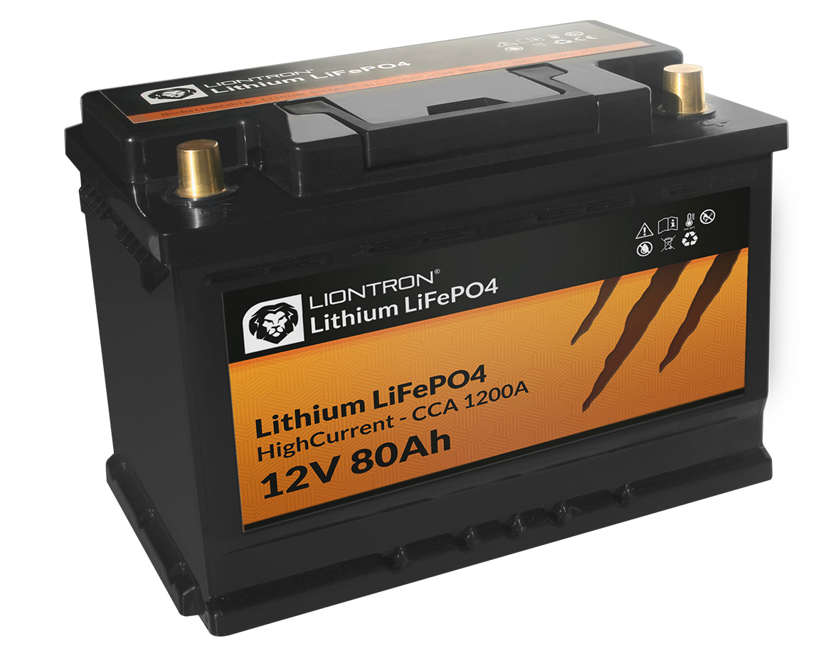 Litio LiFePO4 LX BMS 12,8 V 80 Ah